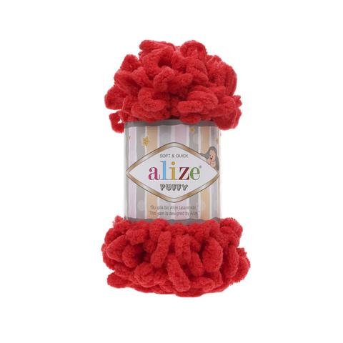 Купить Пряжа Alize Puffy Код цвета 056 Красный | Интернет-магазин пряжи «Пряха»