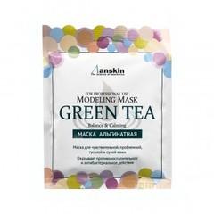 Успокаивающая альгинатная маска Anskin с экстрактом зелёного чая 25 гр