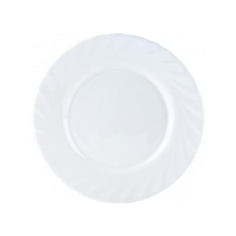 Тарелка десертная Luminarc Трианон стеклянная белая 195 мм (артикул производителя E9559-1/61258/H4124)