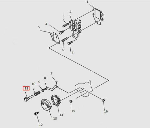 Ручка подсоса карбюратора для лодочного мотора T9.8 Sea-PRO (4-11)