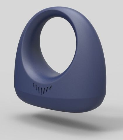 Синее эрекционное smart-кольцо MAGIC MOTION DANTE