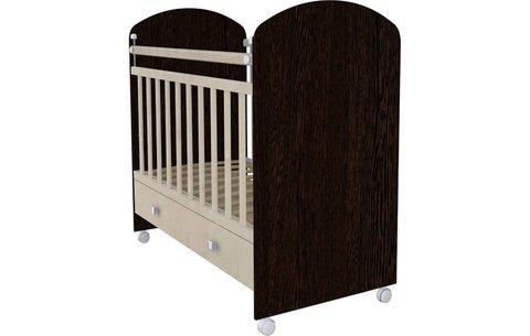 Кроватка детская Фея 700 венге-клён