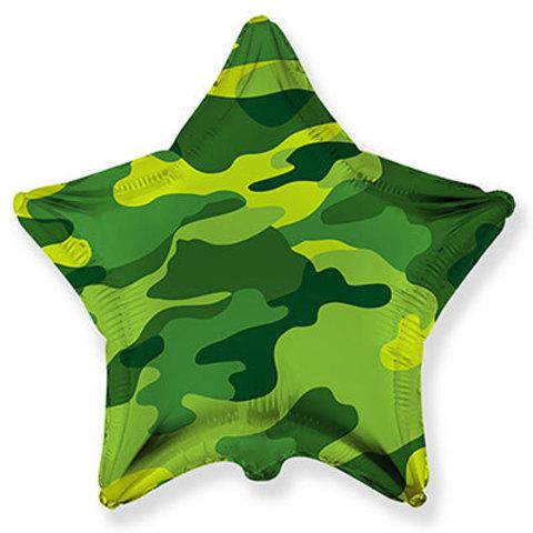 Шар 81 см Камуфляж звезда