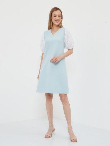 BM Платье трикотажное с шитьем Голубой