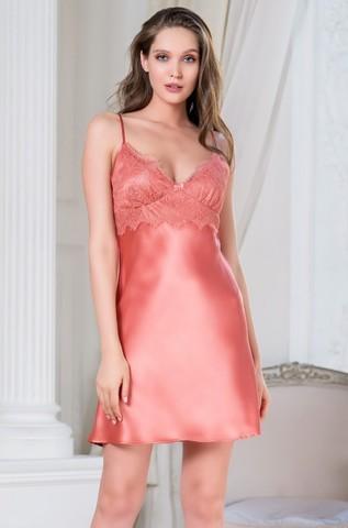 Сорочка женская шелковая MIA-Amore SHARON  ШЕРОН 3800 коралл