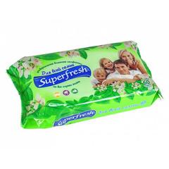 Салфетки влажные SUPER FRESH Для всей семьи, 60шт