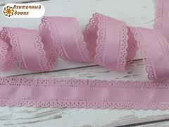 Лента репсовая Перфорированная розовая ширина 30 мм (намотка 10 м)