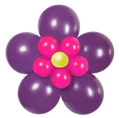 """Цветок"" из шаров без стебля"