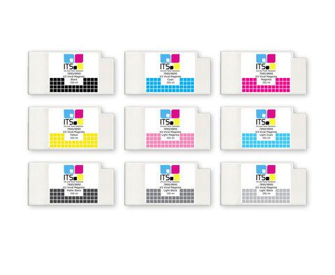 Комплект из 9 картриджей для Epson 7890/9890 9x350 мл
