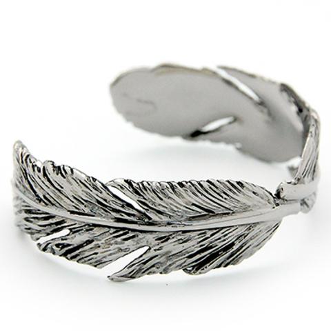 Браслет Перо (серебряное с черным)