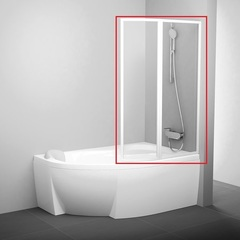 Шторка на борт ванны складная правая 160х150 см Ravak Rosa VSK2 160 R 76P9010041 фото