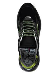 Комбинированные кроссовки Premiata Sharky  014 на шнуровке