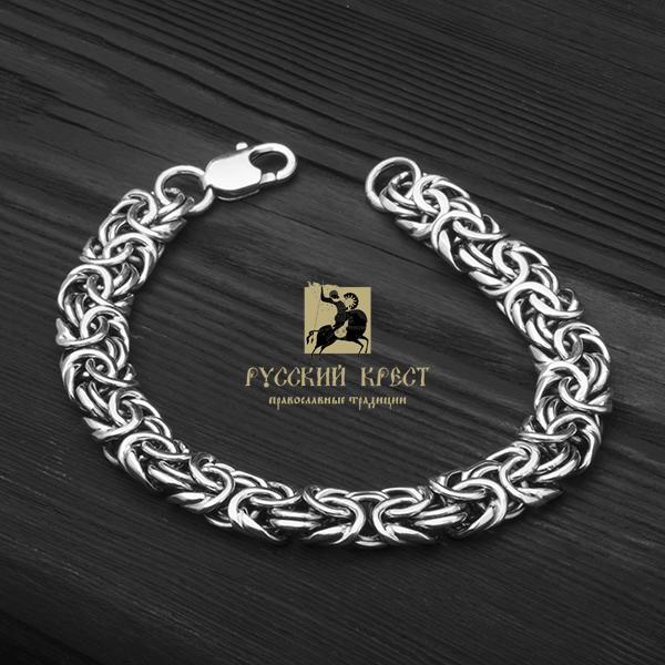 мужской браслет из серебра
