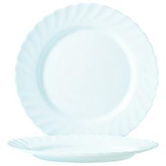 Тарелка обеденная Luminarc Трианон стеклянная белая 245 мм (артикул производителя Н3665/N5015)