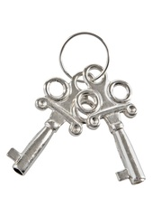 Розовые меховые наручники с ключами