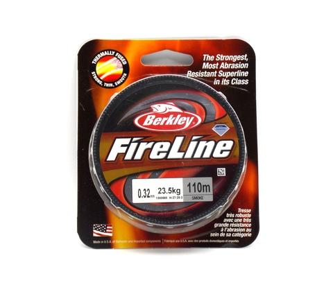 Плетеная леска Berkley Fireline Темно-серая 110 м. 0,32 мм. 23,5 кг. Smoke (1308660)