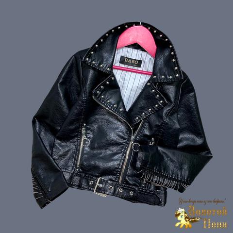 Куртка эко-кожа девочке (5-13) 210524-К74030