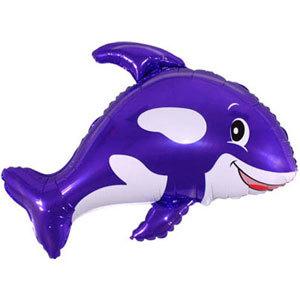 Фольгированный шар Кит фиолетовый 80 X 90см
