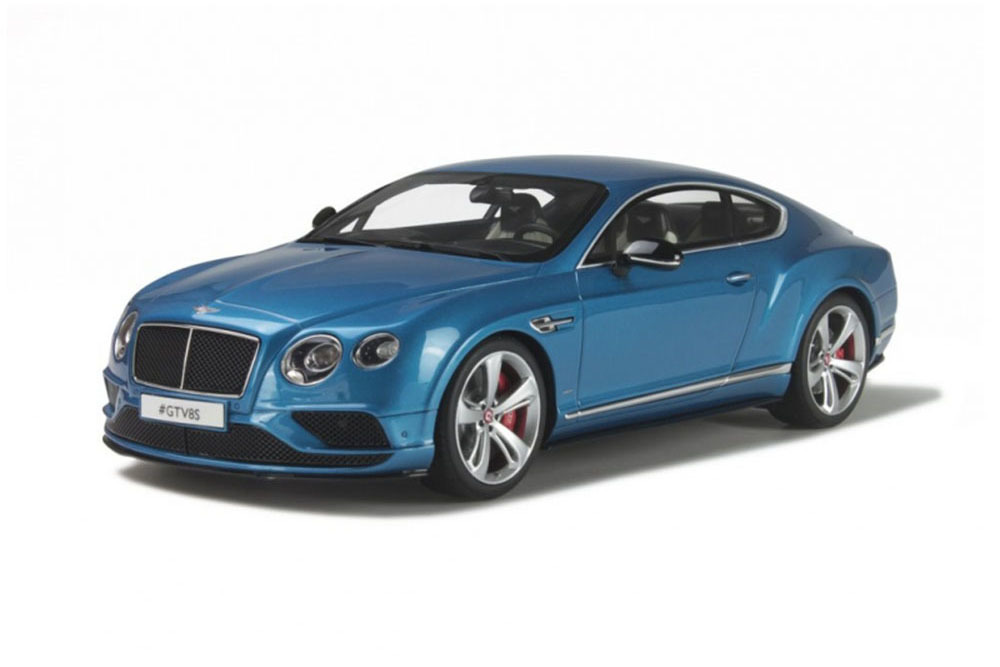 Коллекционная модель Bentley Continental GT V8S Coupe 2015 LightBlue Metallic