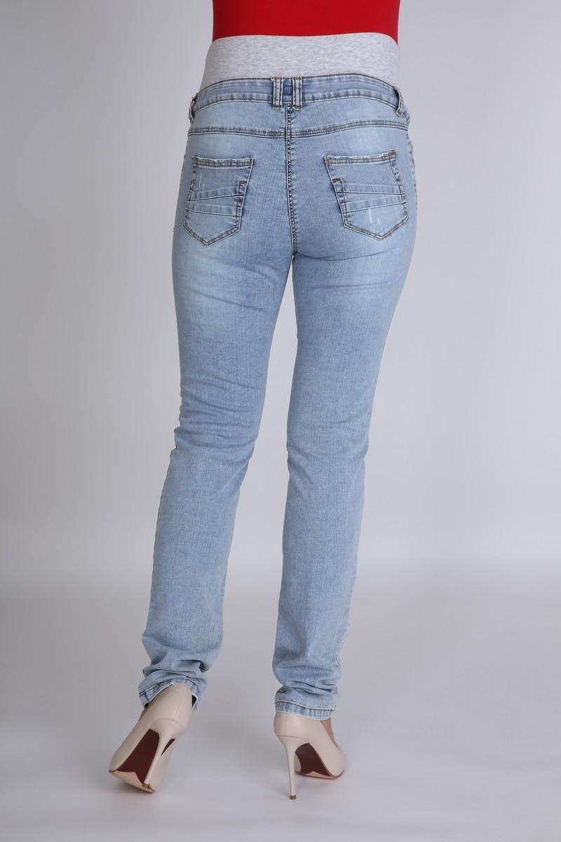 Фото джинсы для беременных MAMA`S FANTASY, зауженные, высокая вставка от магазина СкороМама, синий, размеры.