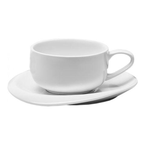 Набор чашка с блюдцем Walmer Gala, (0,2 литра), белый