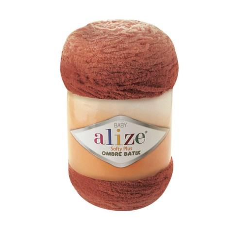 Купить Пряжа Alize Softy Plus Ombre Batik Цвет 7289 Терракотовый | Интернет-магазин пряжи «Пряха»