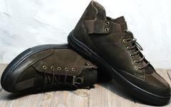 Кроссовки без шнуровки мужские осенние Luciano Bellini 71748 Brown