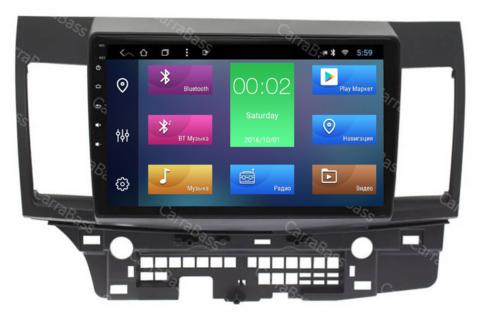 Магнитола для Mitsubishi Lancer X (2007-2015) Android 10 2/16GB IPS DSP модель CB 1042T4