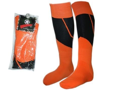Гетры футбольные. Цвет: оранжево-чёрный. Размер: 40-44: K-S