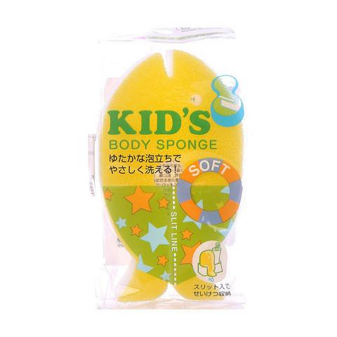 Губка для тела в форме рыбки детская мягкая Kokubo