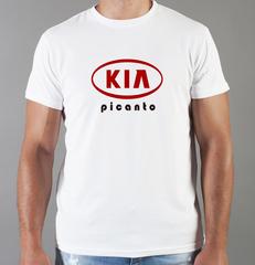 Футболка с принтом KIA Picanto (КИА Пиканто) белая 006