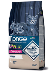 Monge Cat BWild Low Grain Kitten Сухой корм для котят из мяса гуся низкозерновой