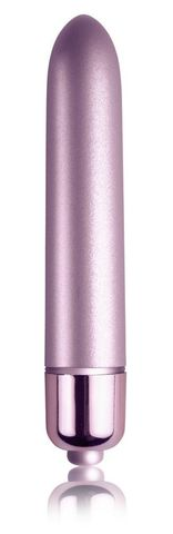 Сиреневый мини-вибратор Touch of Velvet - 10,3 см.