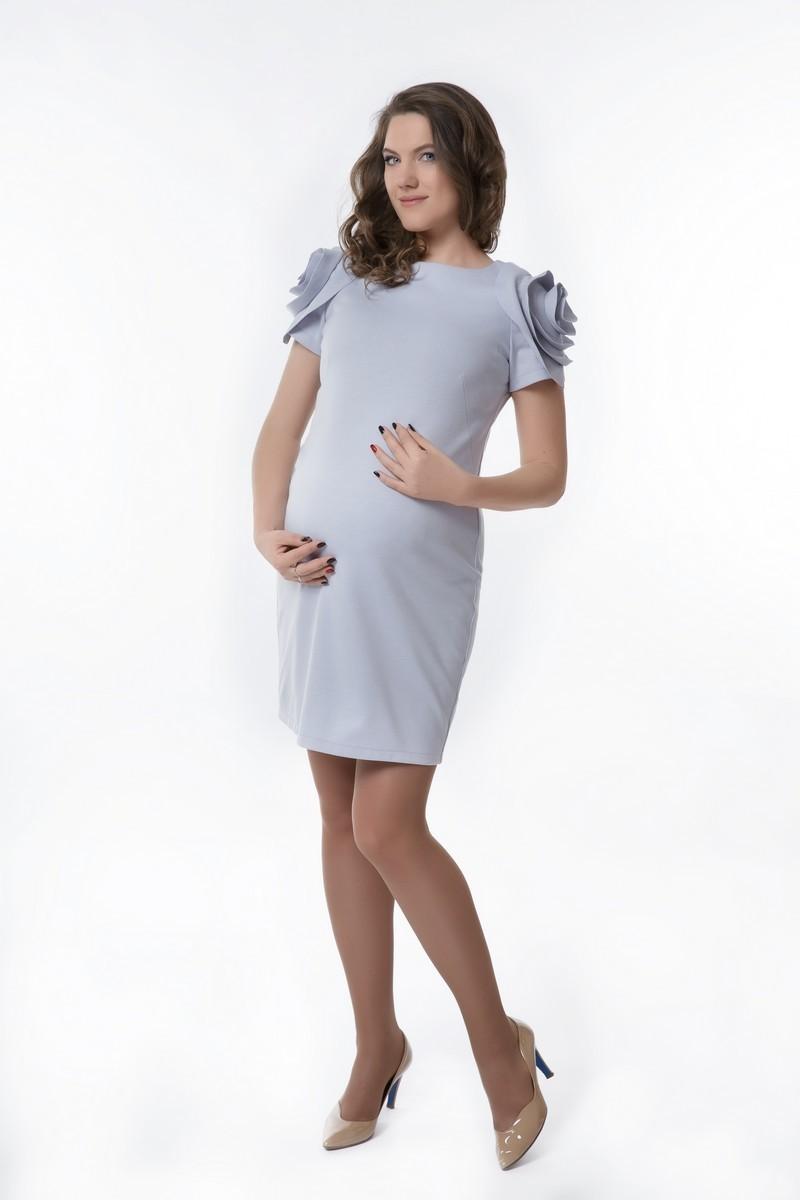 Платье для беременных 08291 серый