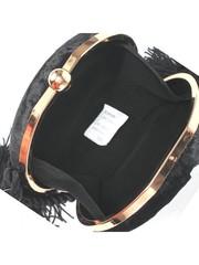 Маленькая сумочка из черного велюра , с кисточками