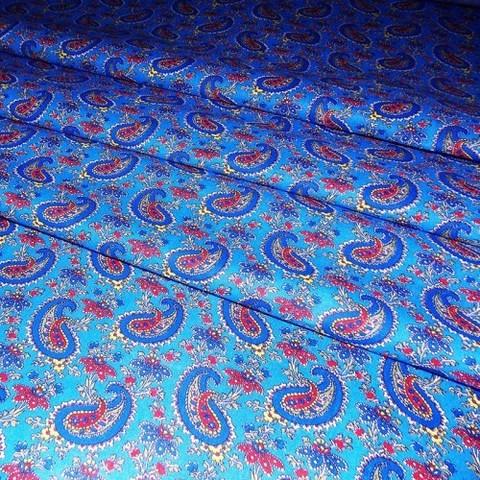 Бязь плательная 150 см 4914/5 цвет синий