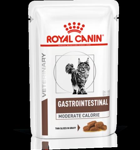 Royal Canin Gastro Intestinal Moderate Calorie для кошек при нарушениях пищеварения 85 г.