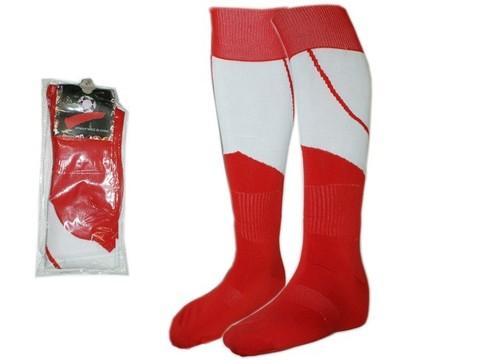 Гетры футбольные. Цвет: красн-белый. Размер: 40-44: K-S