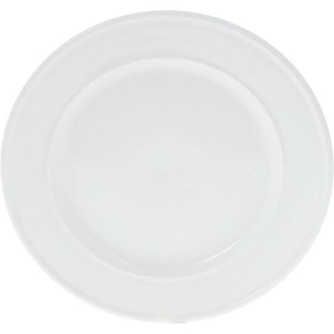 Тарелка обеденная Wilmax фарфоровая белая 255 мм (артикул производителя WL-991008/991242)
