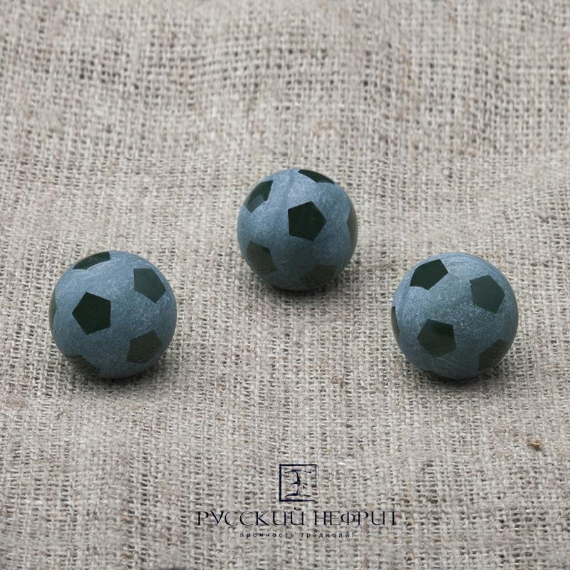 Вставки Футбольный мяч. Шарик 12мм. Тёмно-зелёный нефрит (класс модэ). Футбольный_мяч_2.jpg