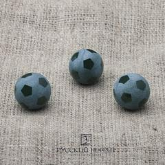 Футбольный мяч. Шарик 12мм. Тёмно-зелёный нефрит (класс модэ).
