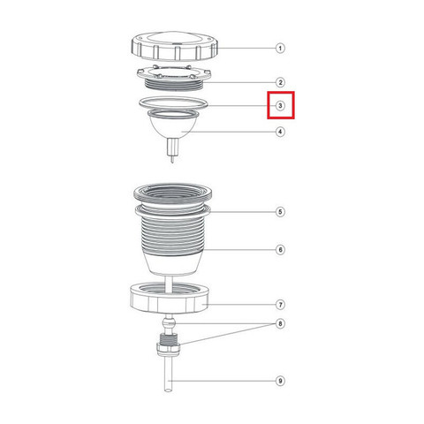 Уплотнительное кольцо прожектора Aquaviva LED/UL-50 / 11881