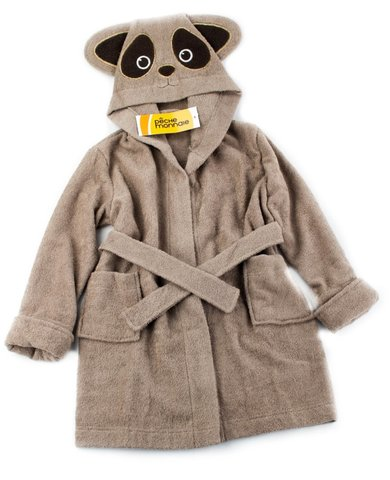 Детский  банный  махровый  халатик Brown Panda темно-бежевый