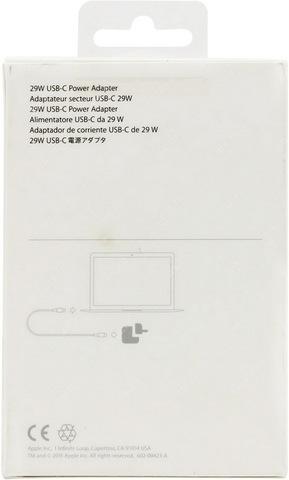 Оригинальный блок питания Apple 29W USB-C Power Adapter (для MacBook Retina 12) MJ262Z/A (A1540)