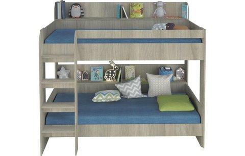 Кровать 2-х ярусная Polini kids Simple 5000, вяз-белый