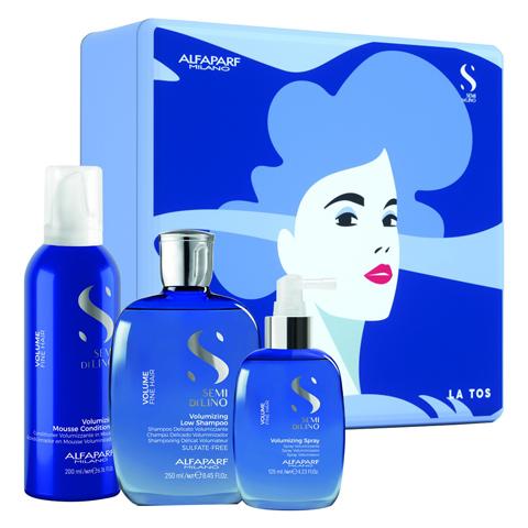 Alfaparf Milano Наборы: Набор для волос SDL Holiday 2020 Volume (шампунь + кондиционер + спрей), 250мл+ 200мл+ 125мл