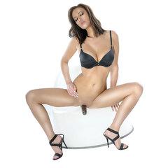 Безремневой страпон с вагинальной пробкой и вибратором Vibrating