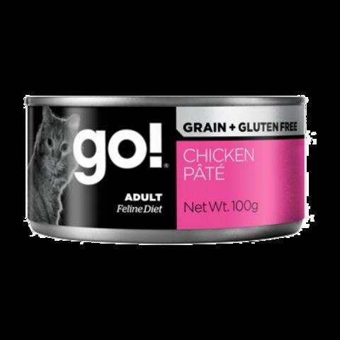 Go! Консервы для кошек с курицей паштет (беззерновые)