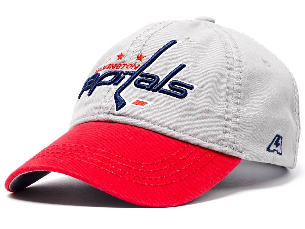 Бейсболка NHL Washington Capitals серая (подростковая)