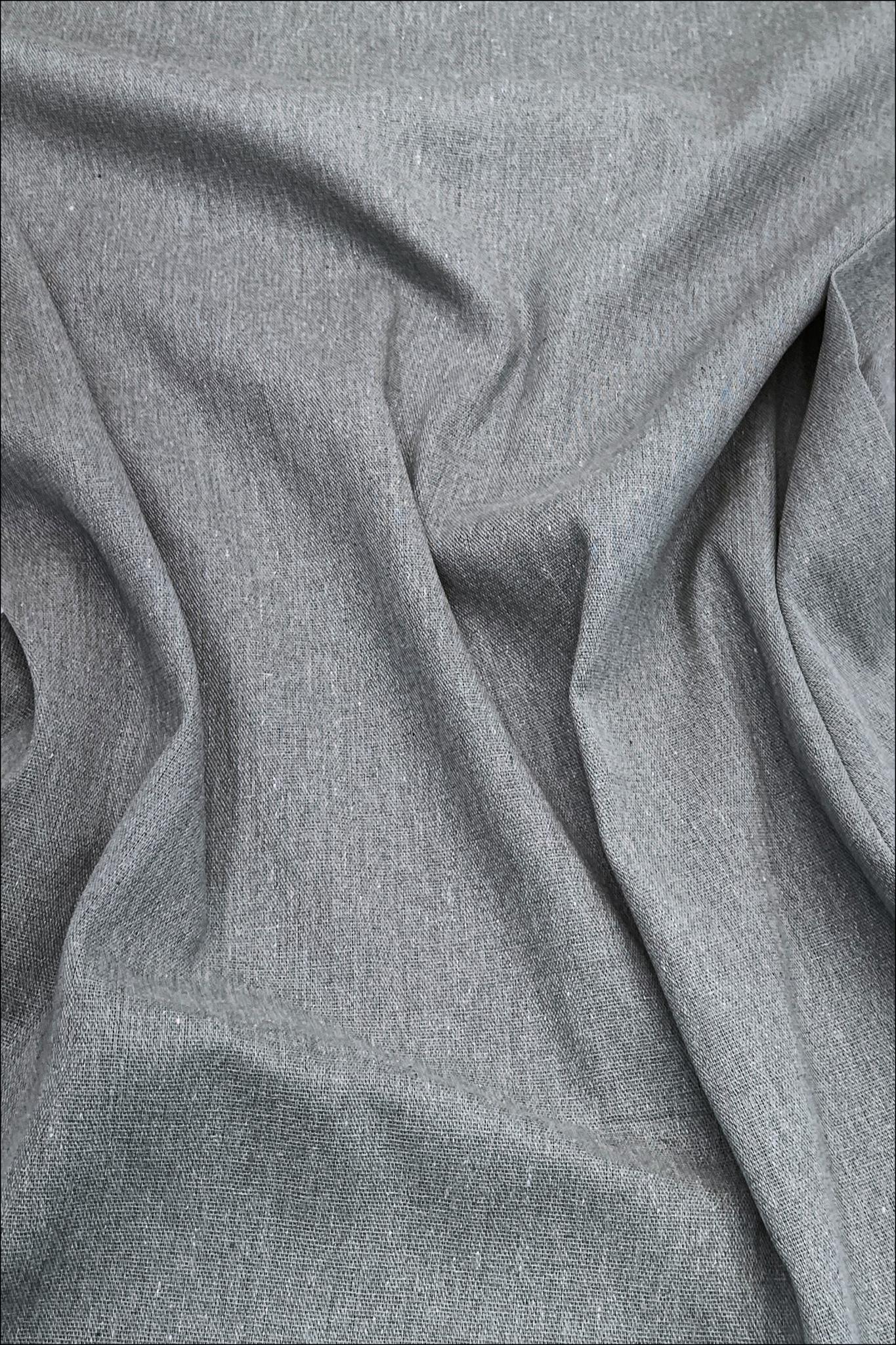 Серый асфальт, хлопок-лен